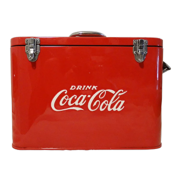 1950's Restored Coca-Cola Airline Cooler Chest