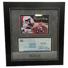 Carroll Shelby Framed Autograph Check #002126 Certified