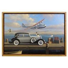 1934 Packard Glassier Motor Car Original Oil Painting by Stan Stokes
