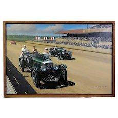 1927 Bentley Motor Car Original Oil Painting by Stan Stokes