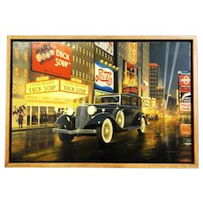1933 Lincoln Motor Car Original Oil Painting by Stan Stokes