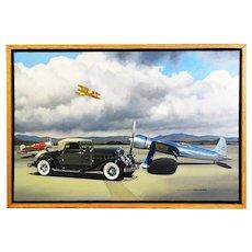 1933 Pierce Arrow Motor Car Original Oil Painting by Stan Stokes