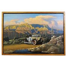 1934 Packard Derham Motor Car Original Oil Painting by Stan Stokes