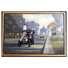 1904 Pierce Arrow Brass Era Motor Car Original Oil Painting by Stan Stokes