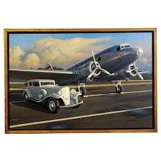 1933 V16 Marmon Motor Car Original Oil Painting by Stan Stokes