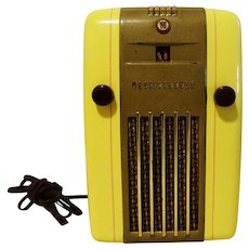 1940's Original Restored Yellow AM Westinghouse Radio