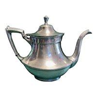 Antique Silver Teapot with Creamer