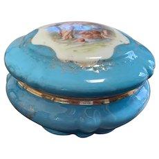 Antique Royal Bavarian Lidded Dresser Bowl