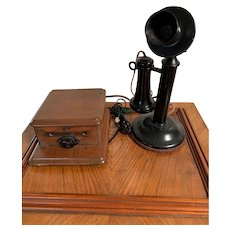 Antique Candlestick Telephone Circa 1900