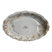 "Extra Large Limoges ""Princess"" Pattern Meat Platter"