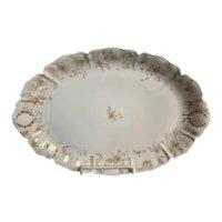 """Antique Oval Platter -""""Princess"""" Pattern, Haviland, Limoges"""