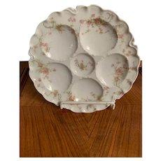 """Antique Haviland Limoges """"Princess"""" Pattern Oyster Plate"""