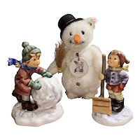 Let It Snow Hummel figurine and Steiff set