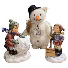 Let It Snow Hummel figurine and Steiff set