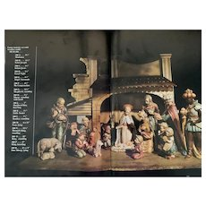 Hummel 16 pcs #260A-S Nativity Set with Stable
