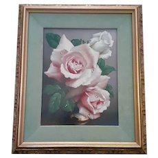 Vintage J. Kliston Oil Still Life of Roses c.1985
