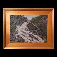 Contemporary Alexander Volya Oil Landscape of Russian Caucasus in Summer c.2000