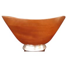 Vintage Gorham Sterling Co. Teak Centerpiece Bowl c.1950 (1.9lbs.)
