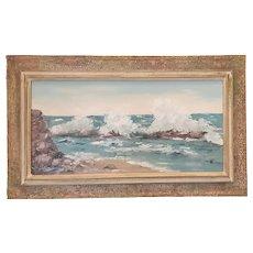 Vintage Elizabeth Brown Oil Seascape c.1930