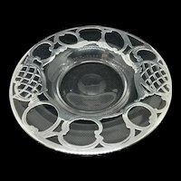 Antique Glass Nut Bowl with Sterling Overlay c.1920 (4.4oz)