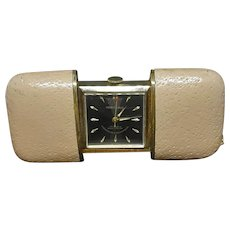 Vintage Marshall Purse & Pocket Travel Watch with Leather Case c.1950 (1.8oz)