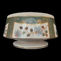 Antique English Staffordshire Earthenware Footed Bowl Centerpiece c.1880 (3.7lbs.)