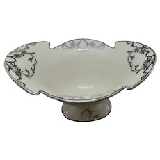 Antique Lenox White Porcelain Compote with Sterling Overlay c.1920 (7.0oz)