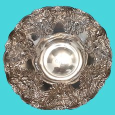 Antique Hennegen & Bates Sterling Co. Repousse Bowl c.1880 (4.8oz)