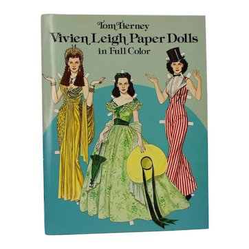 Vivien Leigh Paper Dolls In Full Color Tom Tierney - UnCut