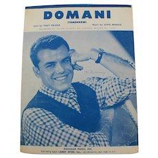 1955 Domani Julius La Rosa Velona/Minucci Vintage Sheet Music