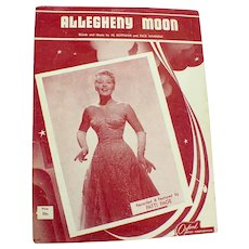 1956 Allegheny Moon - Patti Page Hoffman/Manning Vintage Sheet Music
