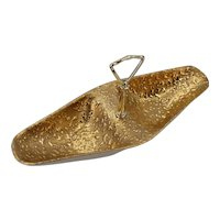 Weeping Bright Gold Splatter 22K Nuts or Candy Dish