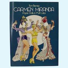 Carmen Miranda Paper Dolls In Full Color By Tom Tierney Uncut 1982