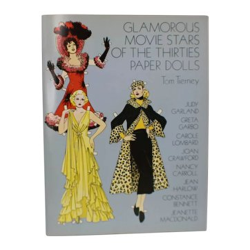Glamorous Movie Stars of the Thirties Paper Dolls Book by Tom Tierney 1978