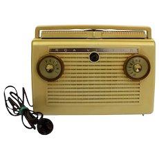 RCA Victor Model 7-BX-6E AM Portable Tube Radio 1950's