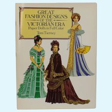 Great Fashion Designs Of The Victorian Style Era Paper Dolls In Full Color - Uncut