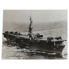 U.S. Navy Escort Carrier USS Palau May 10 1950 Glossy