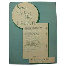 1938 Songs By Albert Hay Malotte Vintage Sheet Music