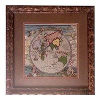 Vintage Needlework of Globe