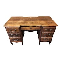 Tiger Oak Desk with 7 Drawers