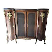 Exquisite French China Hutch With Screened Display and Storage - 89W x 70H x 24D
