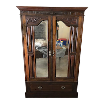 French Cabinet Hutch Armoire - 49W x 76.5H x 18D