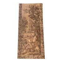 """Magnificent Tall Hanging French Tapestry - Very Large 133"""" T x 58"""" W"""