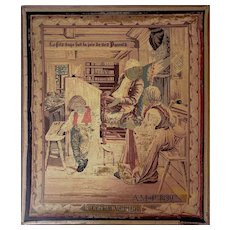 Antique French Tapestry Circa 1890 - Large 29x34