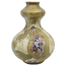 Amphora RSTK Portrait Maiden Vase with Enamel flowers