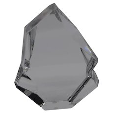 Baccarat crystal iceberg paperweight sculpture