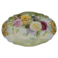 Hand Painted Chrysanthemum tray made in Austria