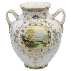 Nippon Morimura moriage double handled vase