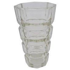 Moser Josef Hofmann Clear Art Deco Art Glass Vase