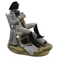 Napoleon Bonaparte Thinking Over the Battle Scheibe Alsbach Porcelain Figurine
